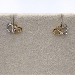RJ Graziano 925 Silver Dainty Heart Earrings